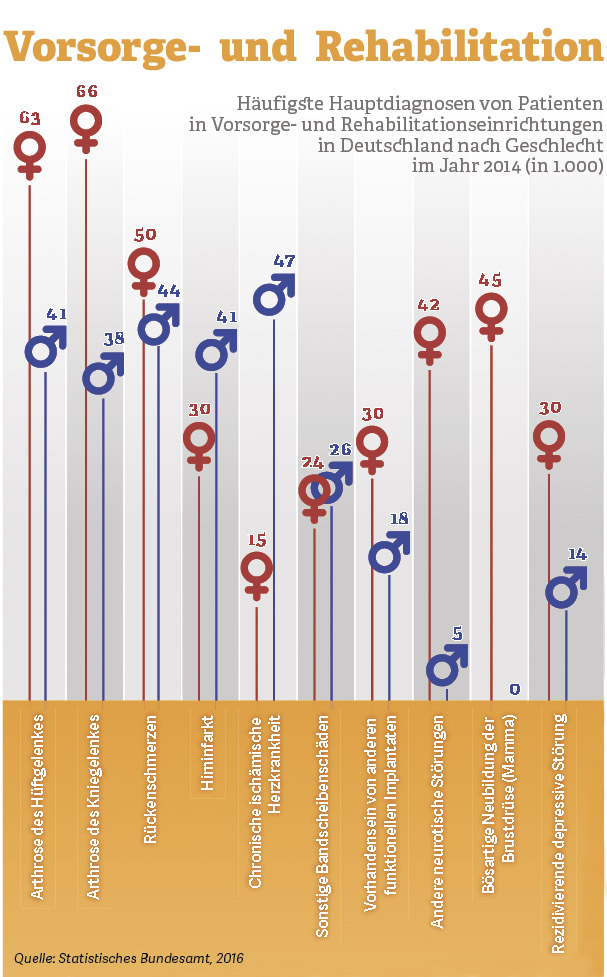 Grafik: Vorsorge und Rehabilitation